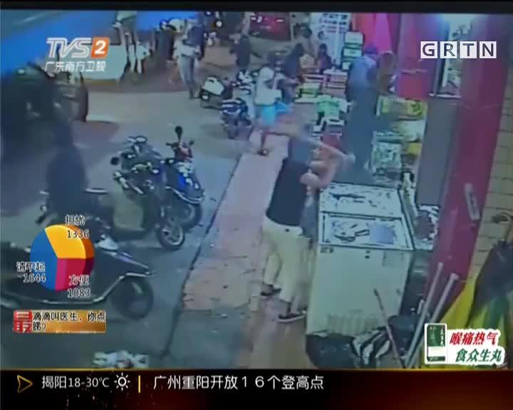 汕尾陆丰:蒙面汉夜砸小店  警方介入调查