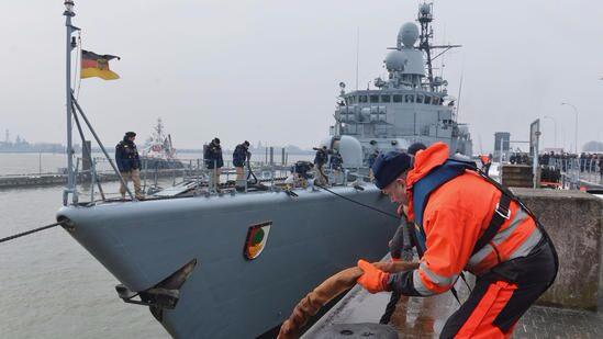 德国护卫舰加入打击伊斯兰国战斗