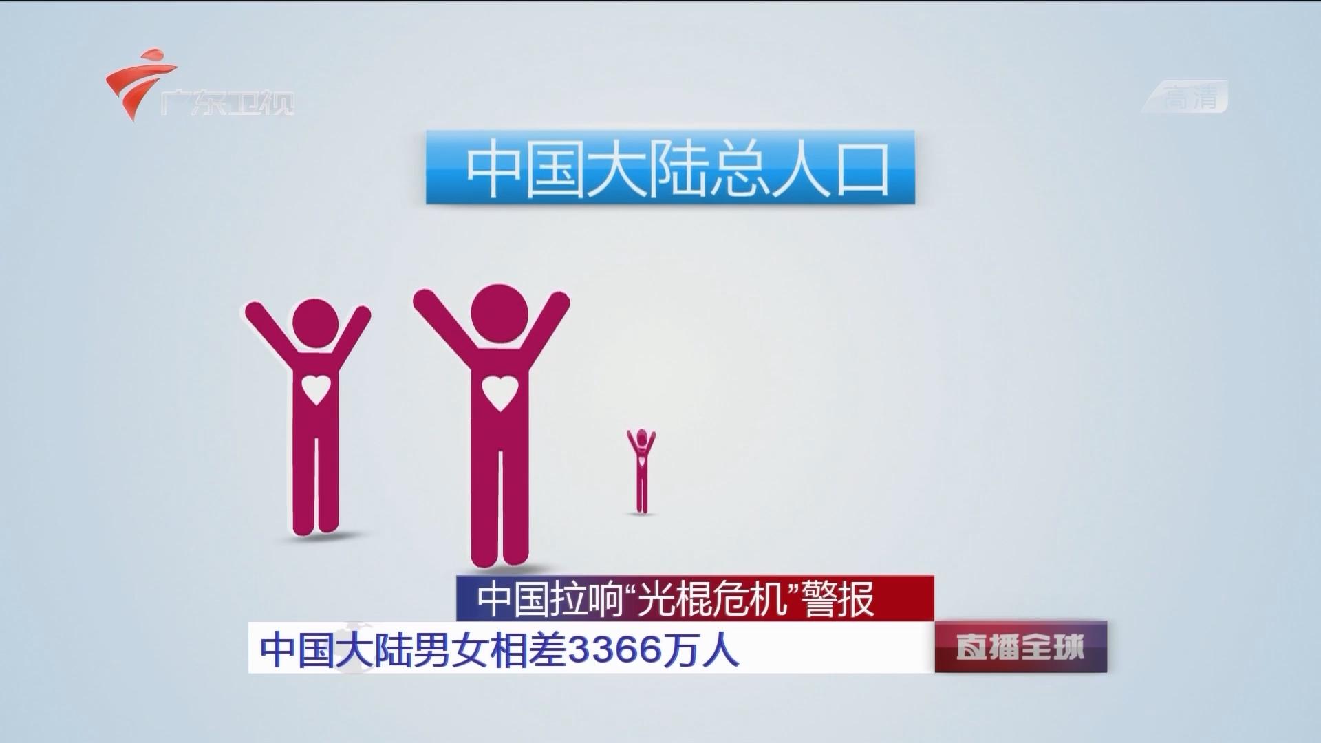 """中国拉响""""光棍危机""""警报 中国大陆男女相差3366万人"""