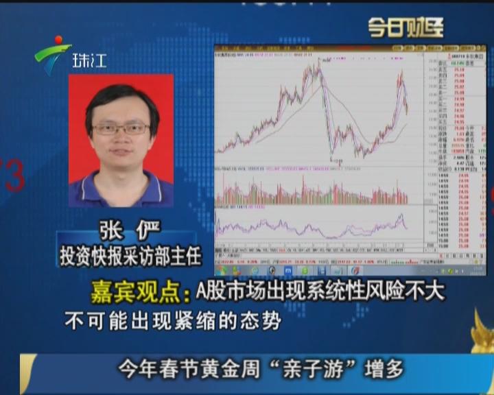 张俨:A股市场出现系统性风险不大