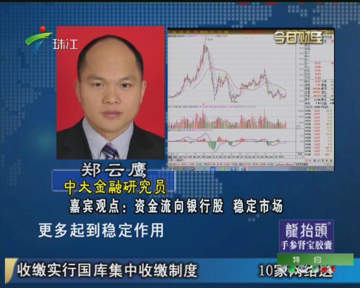 郑云鹰:资金流向银行股 稳定市场