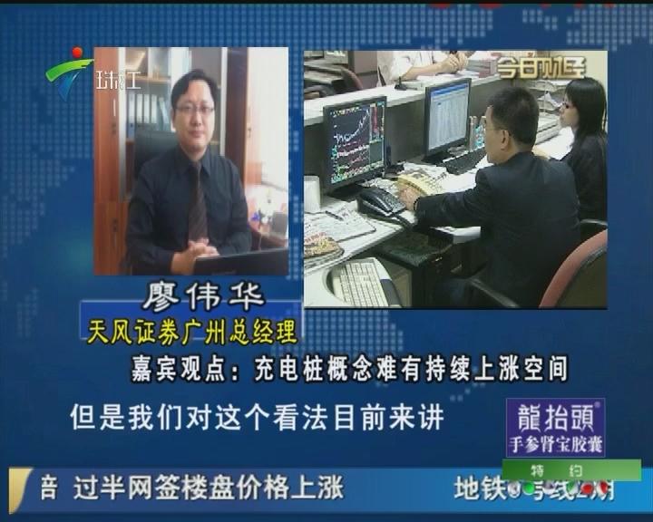 廖伟华:充电桩概念难有持续上涨空间