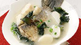 白白嫩嫩鱼尾脊肉汤