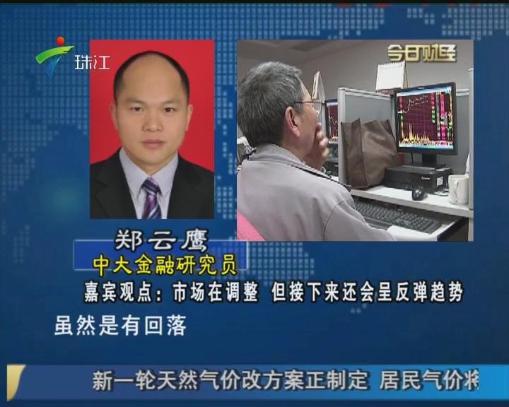 郑云鹰:市场在调整 但接下来还会呈反弹趋势