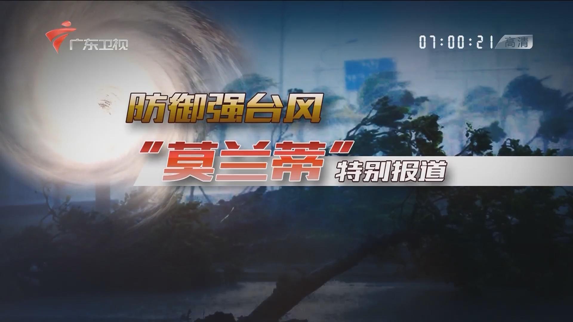 """防御强台风""""莫兰蒂""""特别报道 广东卫视高清"""