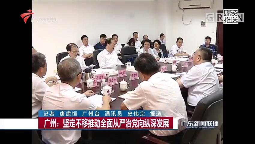 广州:坚定不移推动全面从严治党向纵深发展