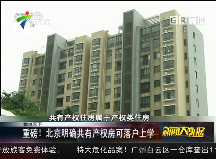 重磅! 北京明确共有产权房可落户上学