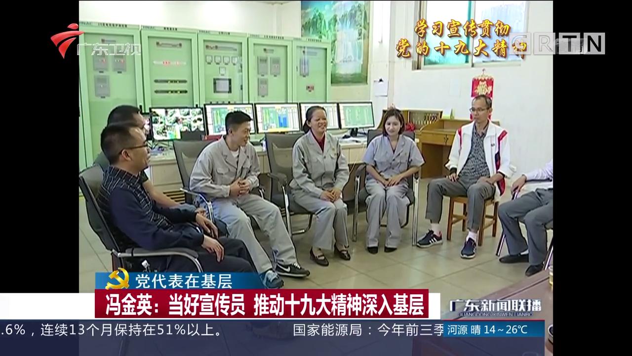 冯金英:当好宣传员 推动十九大精神深入基层