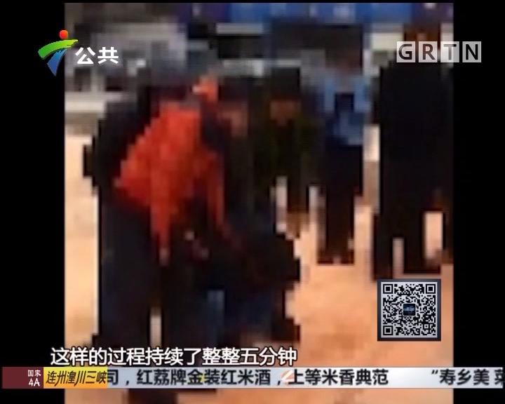 惠州:男子当街遭人围攻 街坊不救反而叫好
