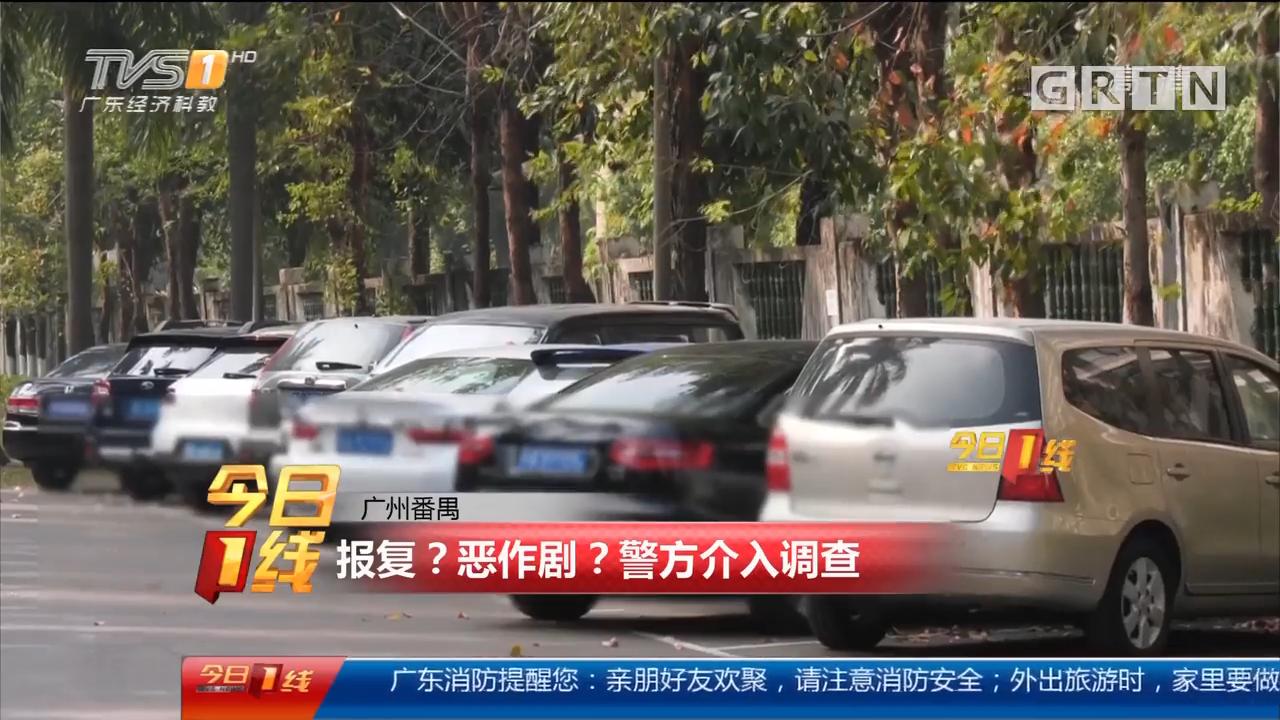 """广州番禺:小区内多车遭""""爆窗"""" 谁干的?"""