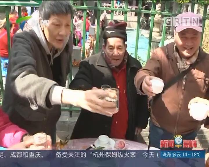 广州:逢源街近百长者享大配餐团年饭