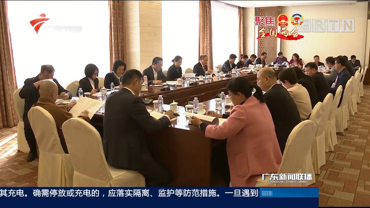 广东团代表分组审议政府工作报告
