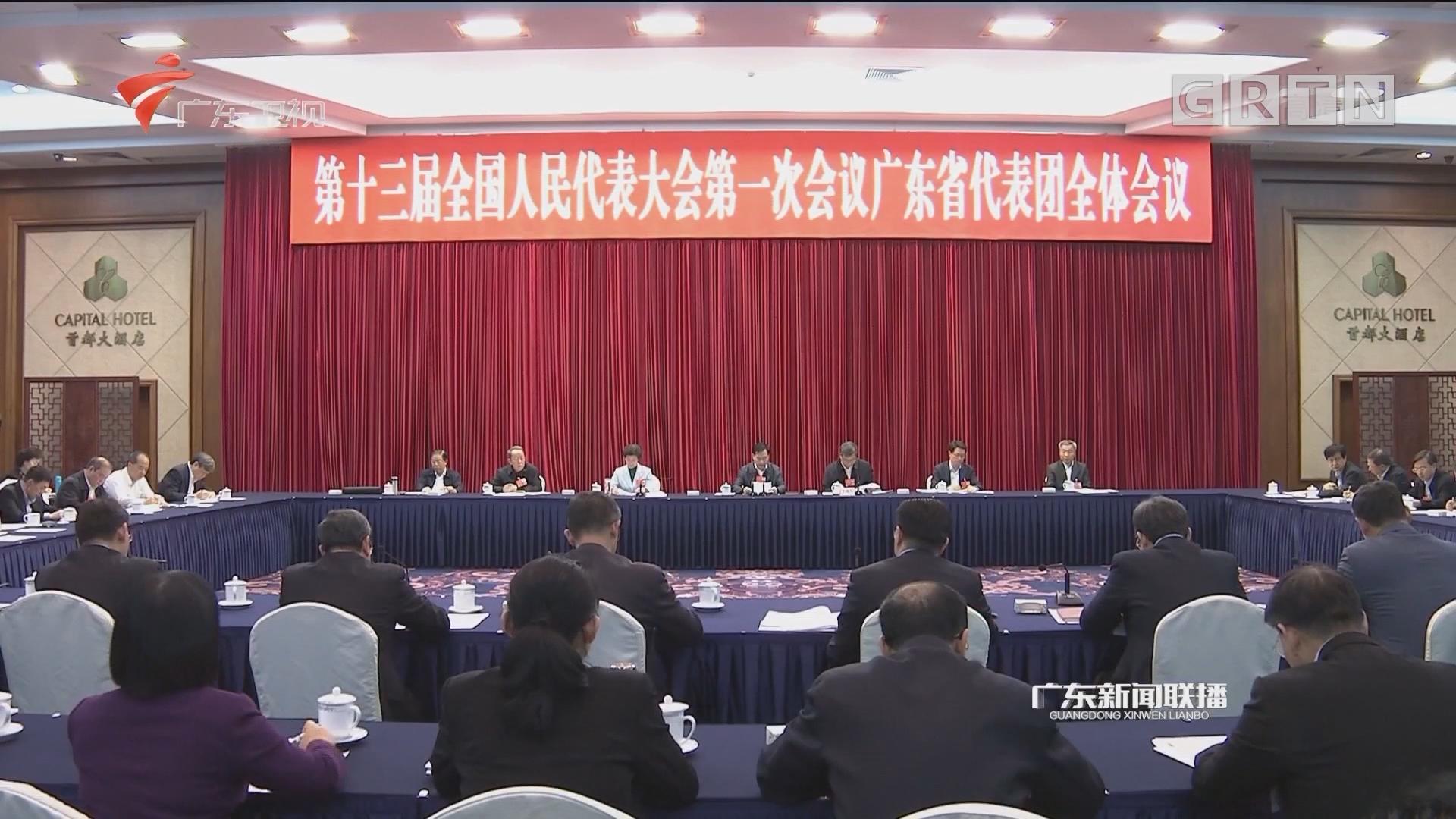 广东代表团审议国务院机构改革方案草案 李希马兴瑞等代表发言