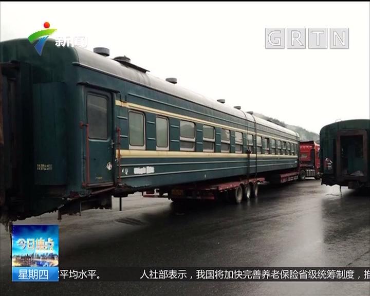 杭州:火车上高速?原是半挂车运报废火车厢