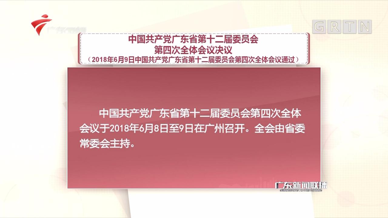 中国共产党广东省第十二届委员会第四次全体会议决议
