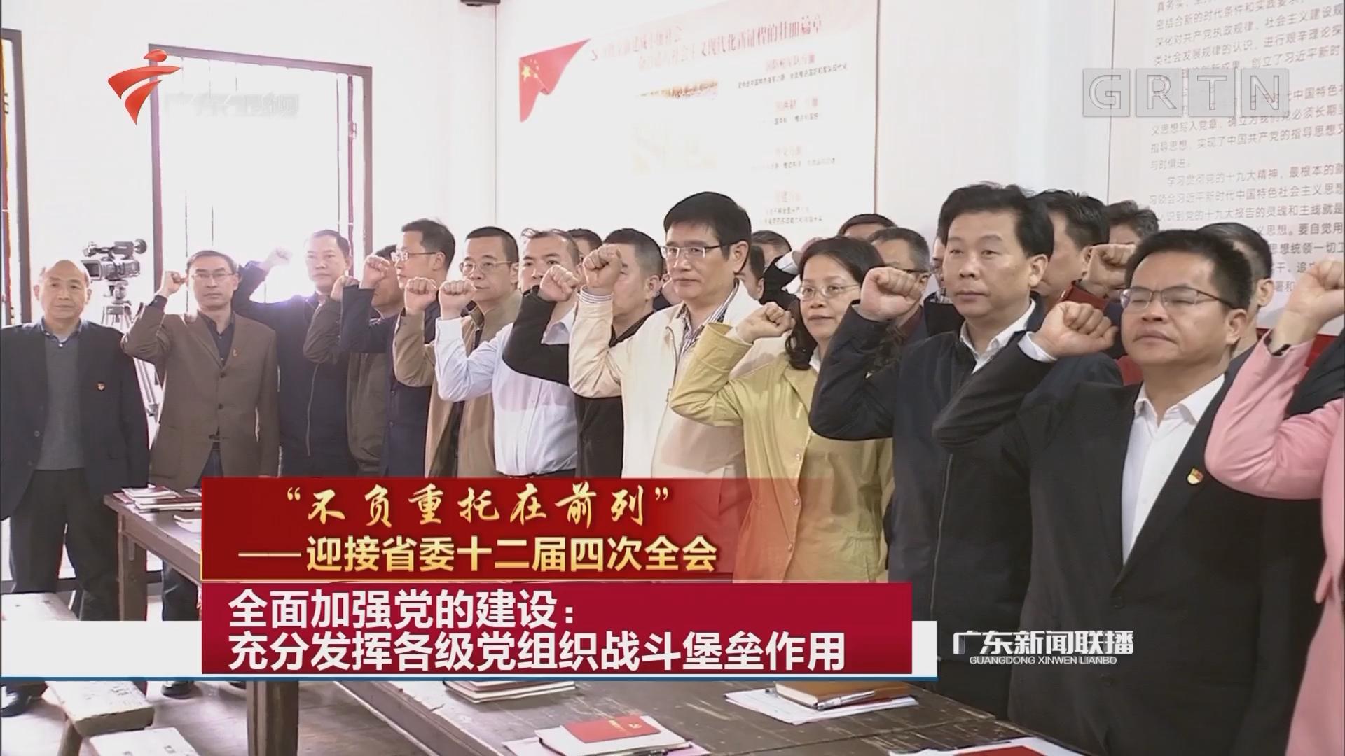 全面加强党的建设:充分发挥各级党组织战斗堡垒作用