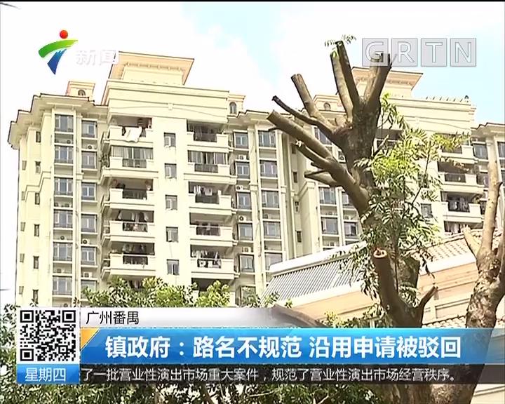 广州番禺 镇政府:路名不规范 沿用申请被驳回