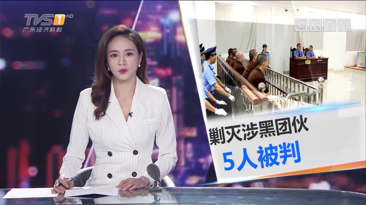 东莞市第三人民法院:5名黑社会组织成员 分获刑1到6年