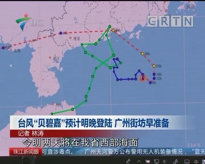 """台风""""贝碧嘉""""即将登陆 广州街坊早准备"""