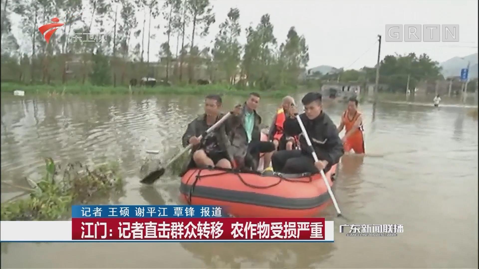 江门:记者直击群众转移 农作物受损严重