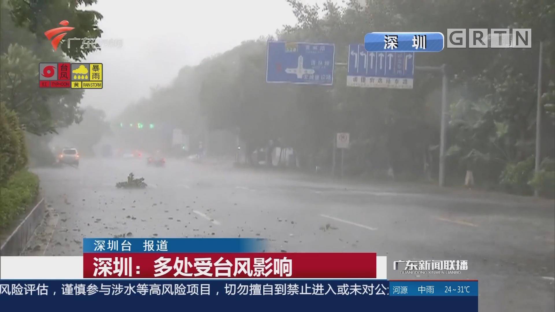 深圳:多处受台风影响