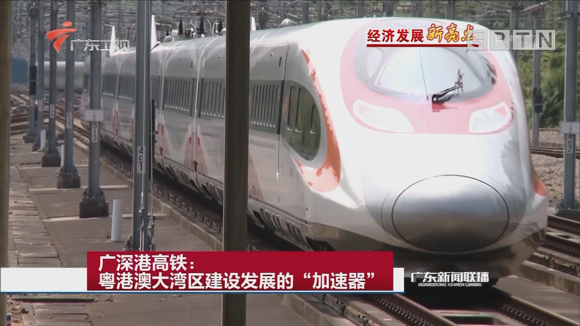 """广深港高铁:粤港澳大湾区建设发展的""""加速器"""""""