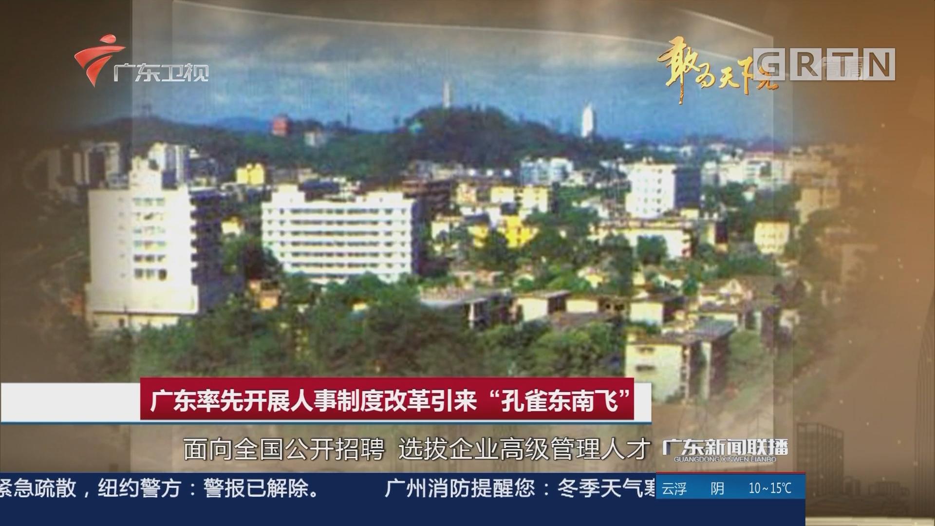 """广东率先开展人事制度改革引来""""孔雀东南飞"""""""