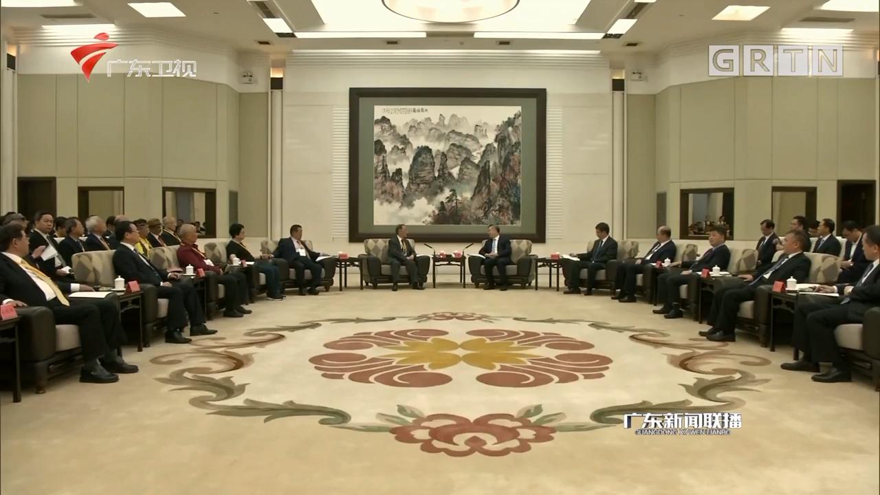 李希会见台湾各界人士代表团