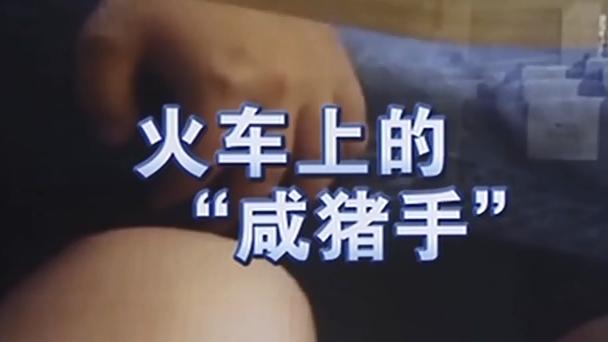 """火车上的""""咸猪手"""":男子火车上猥亵 女乘客拍视频留证据"""