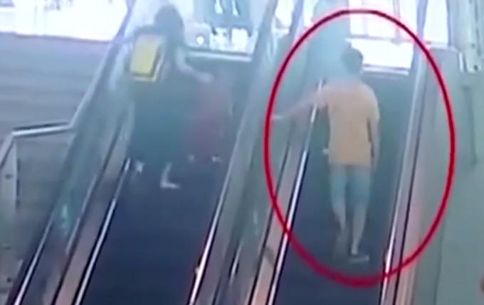 男子上下扶梯十多次偷拍群底被拘