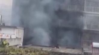清遠:家私倉庫突發起火 幸無人傷亡