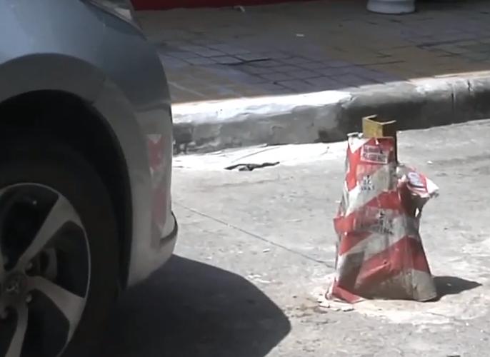 """特别的""""雪糕桶"""":礼让遇""""雪糕桶"""" 车头损毁严重"""