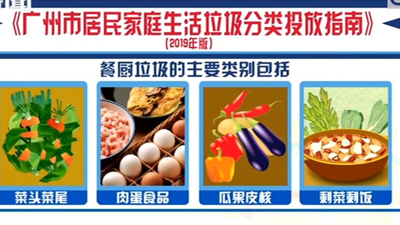广州新版垃圾分类指南 分可回收物 餐厨垃圾 有害垃圾 其他垃圾四类
