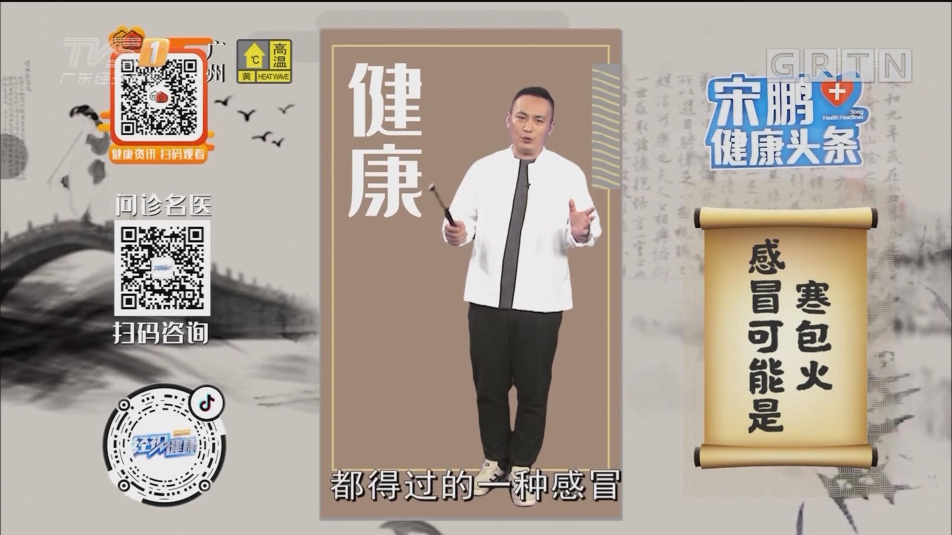 [HD][2019-09-09]经视健康+:宋鹏健康头条:感冒可能是寒包火