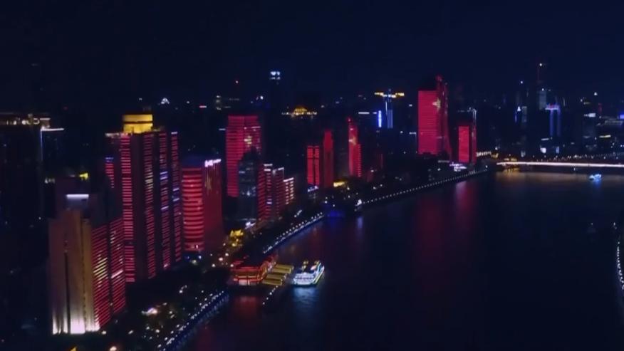 广州:24栋临江建筑 国庆灯光秀完整版上演
