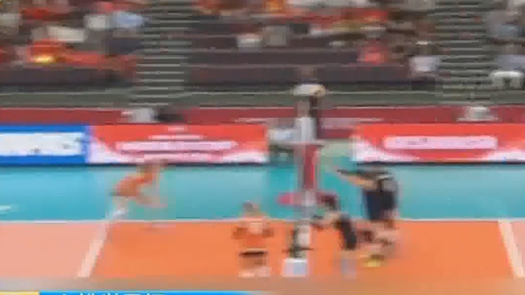 女排世界杯 3-1力克荷兰 中国女排九连胜