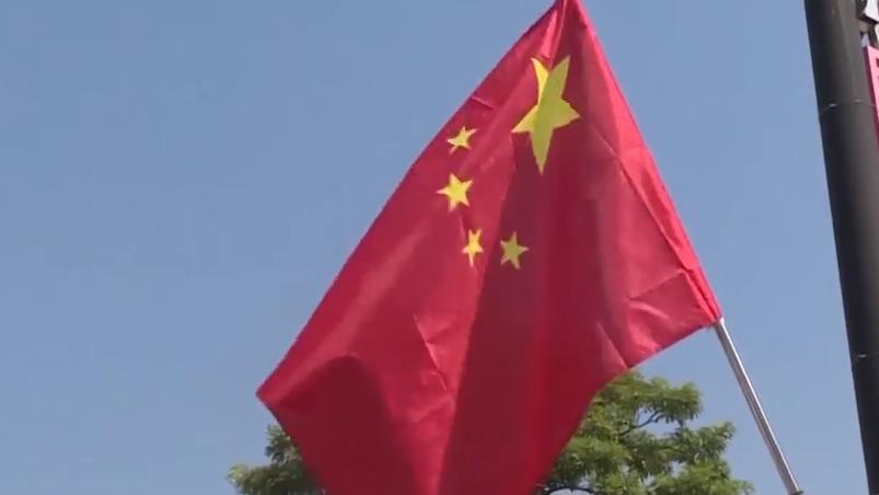 """廣東:國慶氣氛濃 處處""""中國紅"""""""