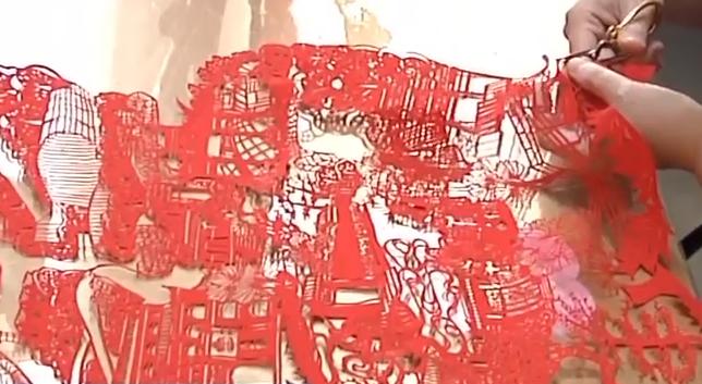 """""""非遗""""守艺人:中华传统工艺大师 妙剪《幸福海珠》献礼祖国"""