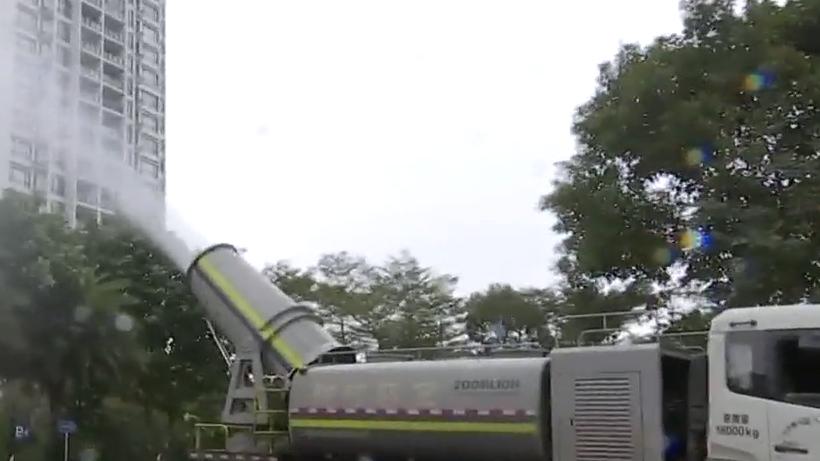 番禺:保洁员做好工作视频记录 祈福新邨引入臭氧消毒