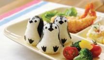 创意便当:企鹅饭团 小熊炒饭