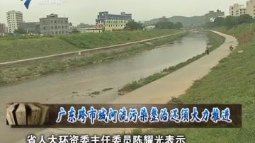 广东跨市域河流污染整治还须大力推进