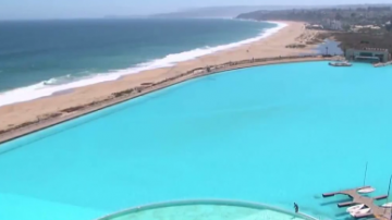 世界上最大的人工泳池,占地8公顷
