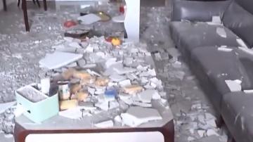 (DV现场)业主求助:新屋入伙一月不到 天花竟然全部塌下