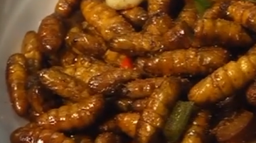 制作味椒盐爆炒蚕蛹