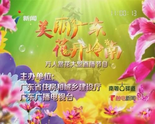 美丽广东 花开岭南 万人赏花大型直播节目