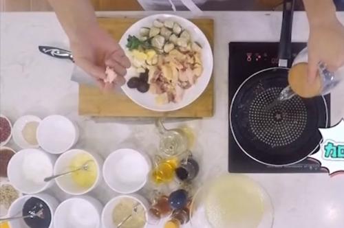 健康厨房:白贝焖鸡