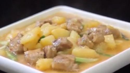 健康厨房:土豆焖排骨