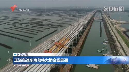 玉湛高速东海岛特大桥全线贯通