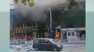 广州:烧烤档爆炸 疑是施工挖爆燃气管