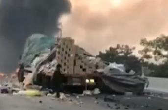 [HD][2019-12-14]今日一线:广深高速:两货车追尾致一车起火 幸无人员伤亡